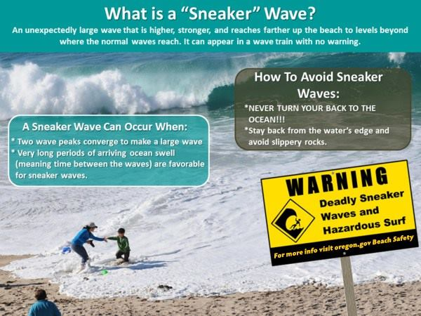How to avoid sneaker waves on the Oregon Coast