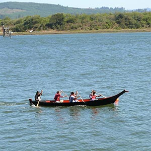 Canoe Races are Recreated at the Salmon Celebration