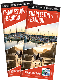 Charleston to Bandon Scenic Tour Driving Map