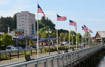 Boardwalk in Downtown Coos Bay, Oregon