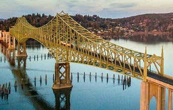 McCullough Bridge in North Bend, Oregon