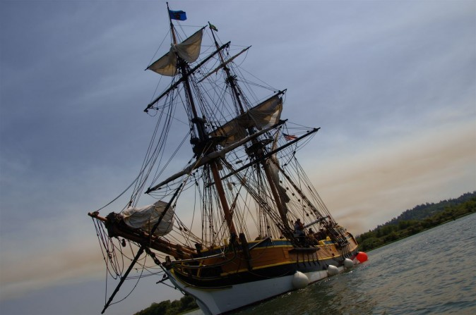 Lady Washington Tall Ship in Coos Bay Oregon