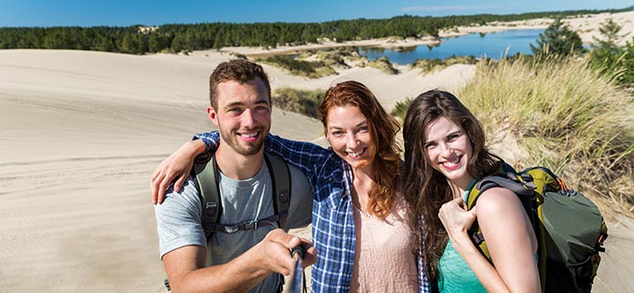 Oregon's Adventure Coast Dunes Selfie Photo
