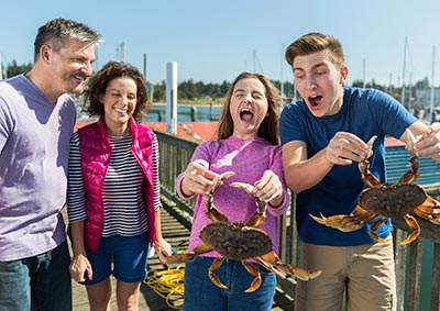 Family Crabbing at the Charleston Marina