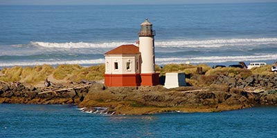 Lighthouse near Coos Bay - North Bend, Oregon