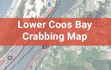 Lower Coos Bay Crabbing Map