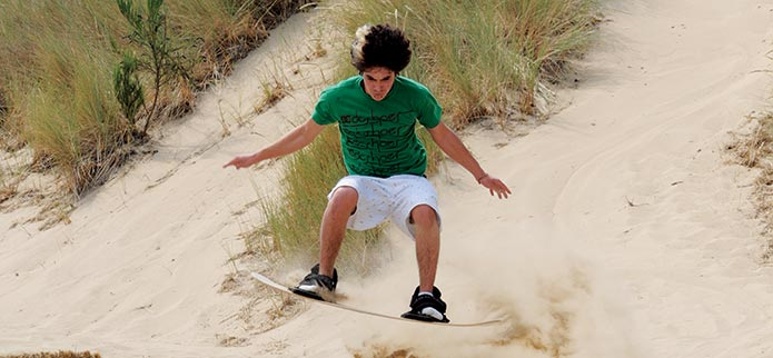 Sandboarding on the Oregon Coastal Dunes